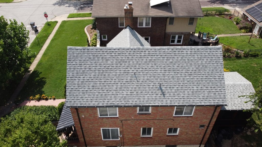 Drone Shot of Recent Roofing Project