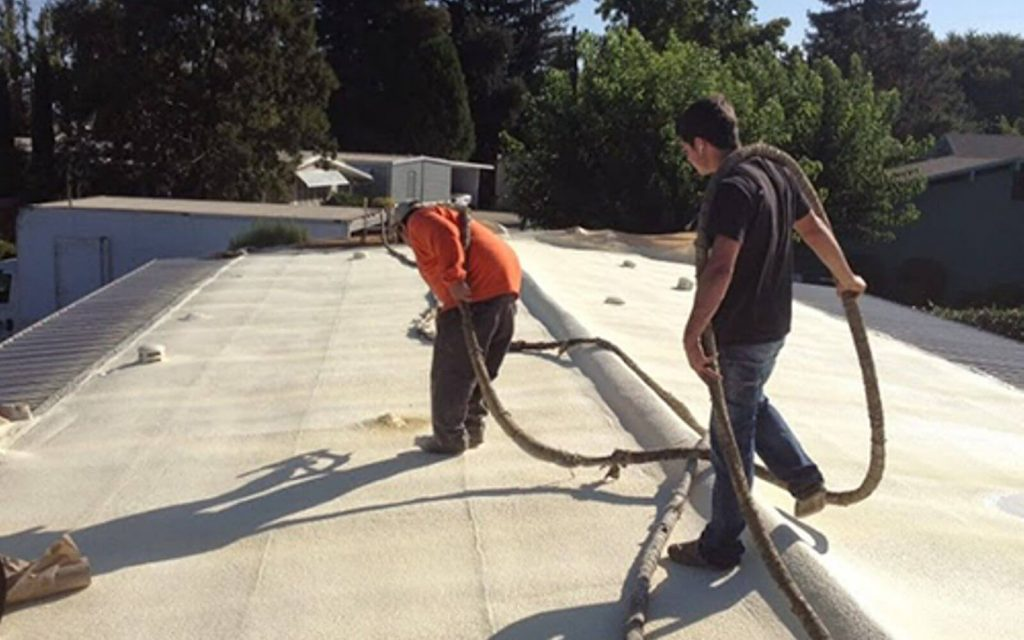 Installation of SPF Roofing