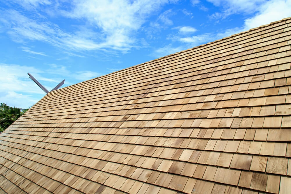 Wood shingle installation